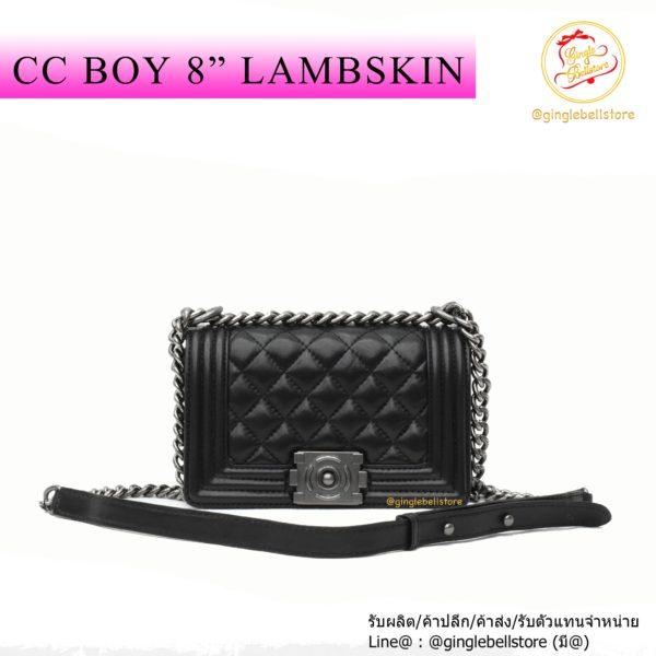กระเป๋า cc boy 8 หนังแกะ ดำ