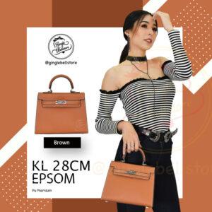กระเป๋า Kelly Epsom ไซส์ 28 ซ.ม. สีbrown