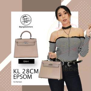 กระเป๋า Kelly Epsom ไซส์ 28 ซ.ม. สีgris-t
