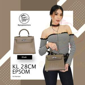 กระเป๋า Kelly Epsom ไซส์ 28 ซ.ม. สีkhaki