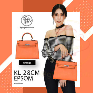 กระเป๋า Kelly Epsom ไซส์ 28 ซ.ม. สีorange2