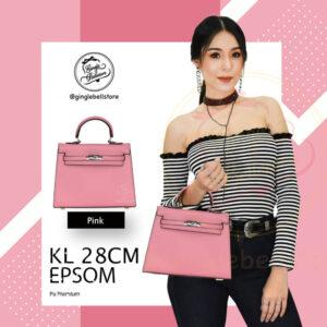 กระเป๋า Kelly Epsom ไซส์ 28 ซ.ม. สีpink