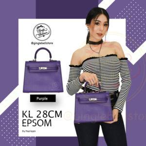 กระเป๋า Kelly Epsom ไซส์ 28 ซ.ม. สีpueple