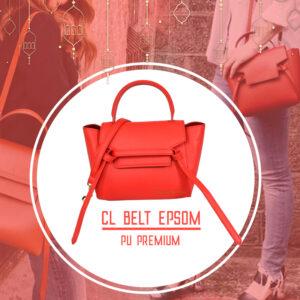 กระเป๋า celine belt ไซส์ 23 ซ.ม. สีRed