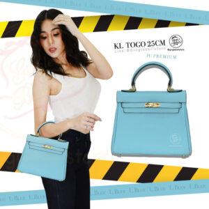 กระเป๋า kelly togo ไซส์ 25 ซ.ม. สีL.blue
