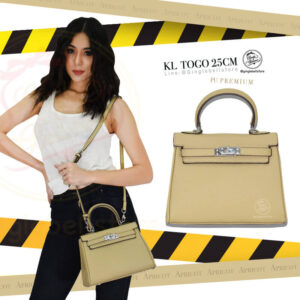 กระเป๋า kelly togo ไซส์ 25 ซ.ม. สีapricot