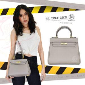 กระเป๋า kelly togo ไซส์ 25 ซ.ม. สีgrey