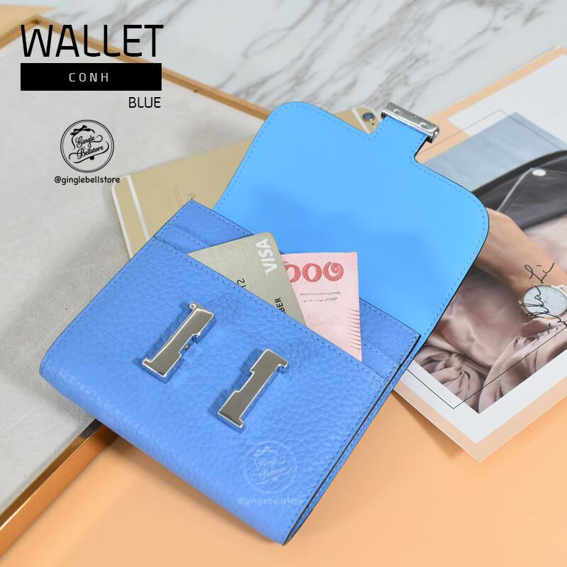 กระเป๋าสตางค์ constance สี blue