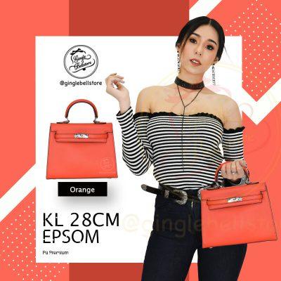กระเป๋า Kelly Epsom ไซส์ 28 ซ.ม. สีorange