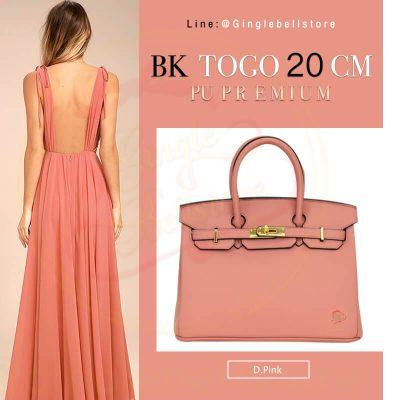 กระเป๋า birkin ไซส์ 20 ซ.ม. สีd.pink